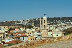 Torres de iglesia y alminar en Chania Fotografía de archivo libre de regalías