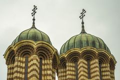 Torres de igreja Fotografia de Stock