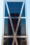 Torres de KIO em Madrid, Spain Fotografia de Stock