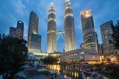 Torres de Kuala Lumpur petronas Imagens de Stock Royalty Free