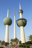 Torres de Kuwait Imagen de archivo libre de regalías