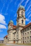 Torres de la abadía benedictina en Einsiedeln, Suiza Imagenes de archivo