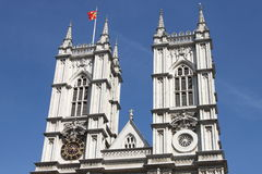 Torres de la abadía de Westminster Imagenes de archivo