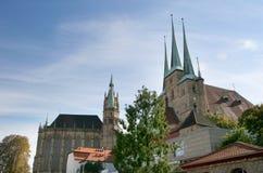 Torres de la catedral Fotos de archivo libres de regalías