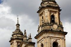 Torres de la catedral de Bogotá Fotos de archivo libres de regalías
