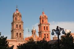 Torres de la catedral en San Luis Potosi imagen de archivo libre de regalías