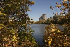 Torres de la central nuclear Imagen de archivo libre de regalías