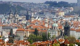 Torres de la ciudad de Praga imagenes de archivo