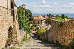 Torres de la ciudad vieja San Giminiano, Toscana, Italia imágenes de archivo libres de regalías