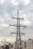 Torres de la electricidad Imagenes de archivo