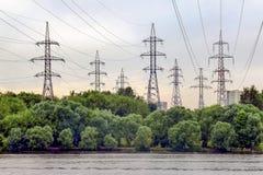 Torres de la electricidad Foto de archivo libre de regalías
