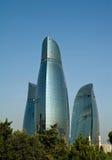 Torres de la llama de Baku Imagen de archivo