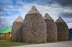 torres de la madera del fuego Imagen de archivo