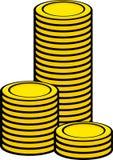 Torres de la moneda del dinero Fotos de archivo libres de regalías