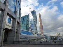 torres de la Moscú-ciudad Imagen de archivo