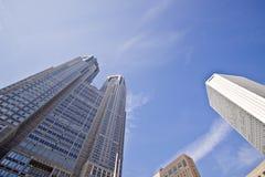 Torres de la oficina de Tokio Imagen de archivo libre de regalías