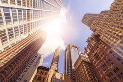 Torres de la oficina en el sol Imagenes de archivo