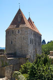 Torres de la puerta de Narbonne Imagenes de archivo