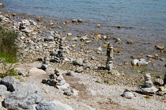 Torres de la roca en la isla de Mackinac Fotografía de archivo