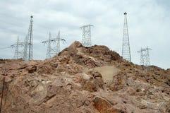 Torres de la transmisión de potencia Imagen de archivo