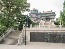 Torres de la visión del río de Nanjing Imágenes de archivo libres de regalías