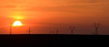 Torres #12 de las líneas eléctricas Imagen de archivo