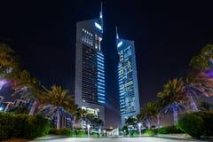 Torres de los emiratos, Dubai, UAE fotos de archivo libres de regalías