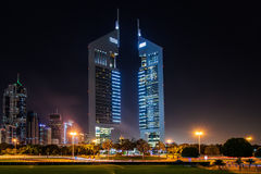 Torres de los emiratos, Dubai, UAE fotos de archivo