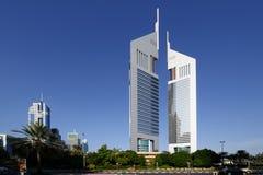 Torres de los emiratos en Dubai fotografía de archivo libre de regalías