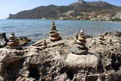 Torres de los guijarros Fotos de archivo