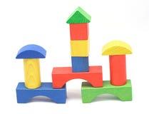 Torres de madeira do bloco Fotografia de Stock