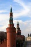 Torres de Moscovo Kremlin Fotografia de Stock Royalty Free