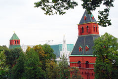 Torres de Moscovo Kremlin Local do património mundial do Unesco Fotos de Stock Royalty Free