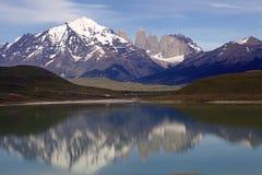 Torres de Paine en el parque nacional de Torres del Paine, Patagonia chilena, Chile Imagen de archivo