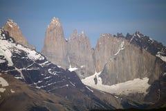 Torres de Paine en el parque nacional de Torres del Paine, Patagonia chilena, Chile Imagen de archivo libre de regalías
