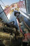 Torres de perforación de petróleo Fotos de archivo libres de regalías