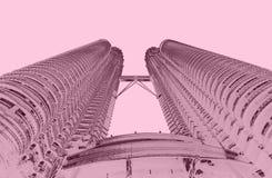 Torres de Petrona no tom do duo do quilolitro Malásia imagem de stock royalty free