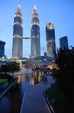 Torres de Petronas Fotografia de Stock