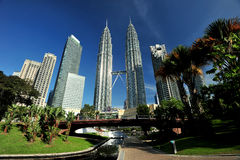 Torres de Petronas Fotografía de archivo