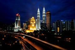 Torres de Petronas Imagenes de archivo