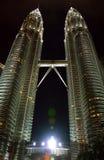 Torres de Petronas em Kuala Lumpur, Malaysia Fotos de Stock Royalty Free
