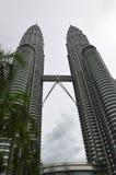 Torres de Petronas em Kuala Lumpur, Malaysia Imagem de Stock