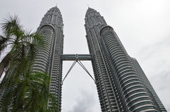 Torres de Petronas em Kuala Lumpur, Malaysia Imagens de Stock