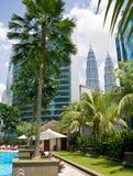 Torres de Petronas en Kuala Lumpur Imagen de archivo