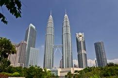 Torres de Petronas en Kuala Lumpur, Malasia imágenes de archivo libres de regalías