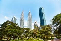 Torres de Petronas en Kuala Lumpur imágenes de archivo libres de regalías