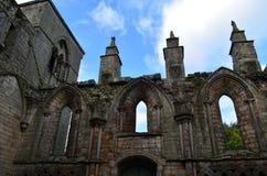 Torres de piedra de la abadía de Holyrood Imágenes de archivo libres de regalías