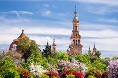 Torres de Plaza de Espana Fotografía de archivo libre de regalías