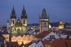 Torres de Praga Imagenes de archivo