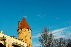 Torres de protetor na cidade velha de Tallinn Fotos de Stock Royalty Free